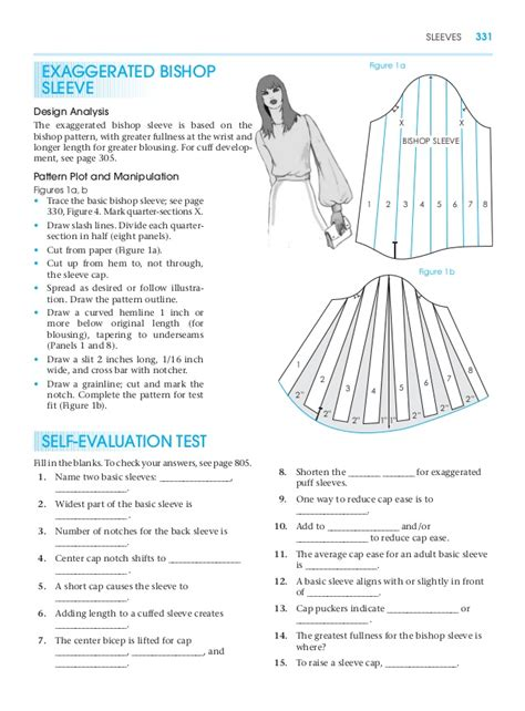 pattern drafting glossary exaggerated bishop sleeve pattern making for fashion