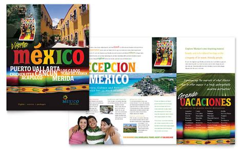 mexico travel brochure template design