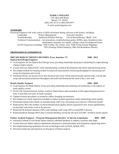 failure analysis engineer resume resume ideas