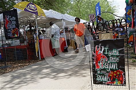 stands at crawfish festival editorial photography image 55144957