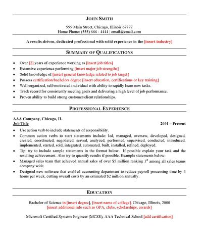 General Resume Template Free by Free General Resume Template