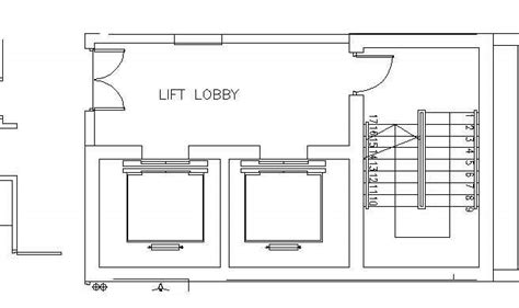 hotel design guestroom sample elvator foyer plan 3