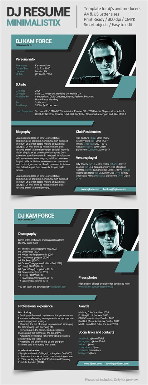 dj rider template tools4dj promotional print templates for dj s and producers