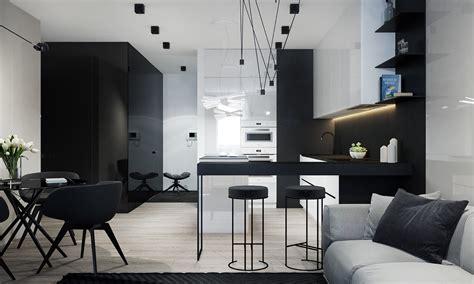 monochrome minimalist spaces creating black  white magic