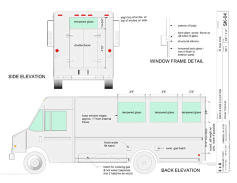 food truck design drawing final truck drawings clover food lab