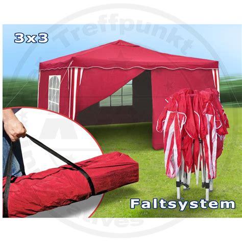 Faltpavillon Wasserdicht 3x3 by Faltpavillon 3x3 Seitenteile Metall Garten Pavillon Rot