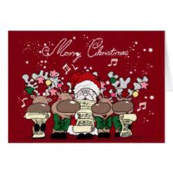 with singing reindeer cards with singing reindeer card templates postage