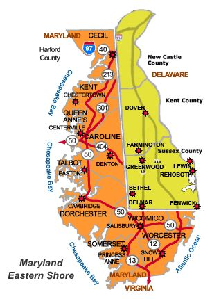 map of maryland eastern shore and delaware map of eastern delaware pictures to pin on