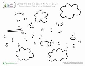 dot pattern alphabet airplane dot to dot worksheet education com