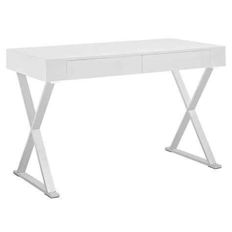 Modern Desks White Image Gallery Modern White Desk