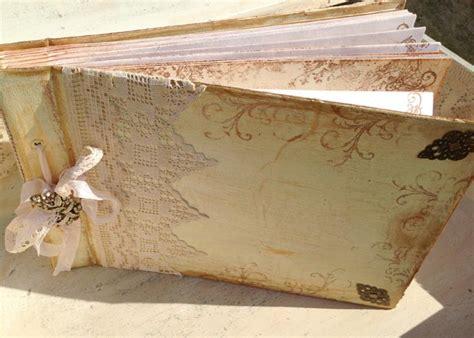 ready to ship wedding photo album ivory vintage shabby