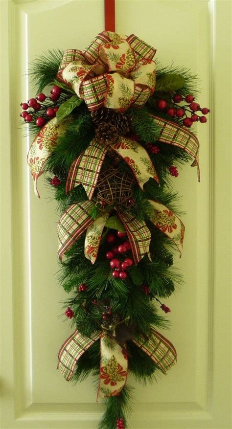 wreaths swags images  pinterest deco mesh