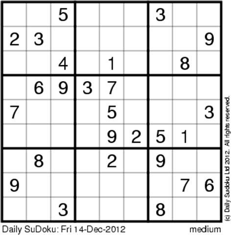 Printable Usa Today Sudoku Puzzles | the daily sudoku