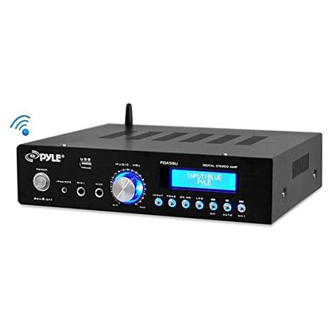 Compact Home Audio Lifier Pyle Bluetooth Stereo Lifier Compact Home Audio