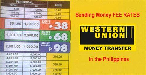 send money domestically list of money transfer sending money rates via western