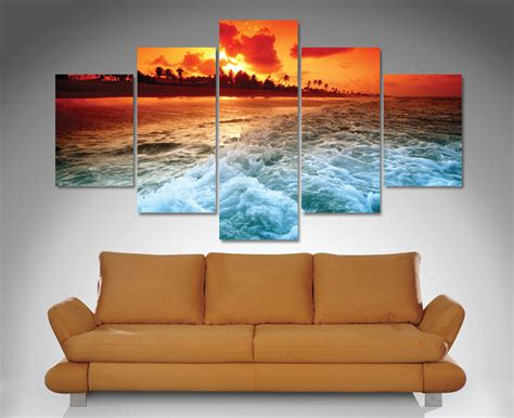 canvas prints sunset churn 5 panel canvas wall art print canvas prints australia