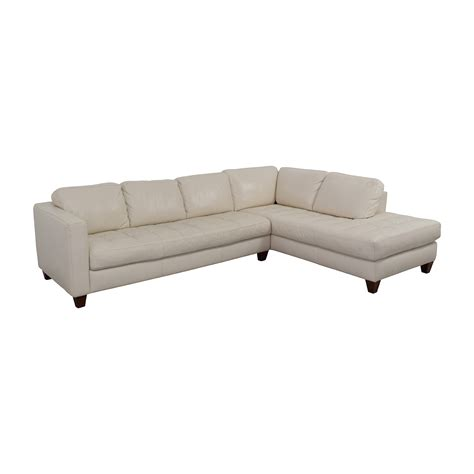 macy s white leather sofa 72 off macy s macy s milano white leather two piece
