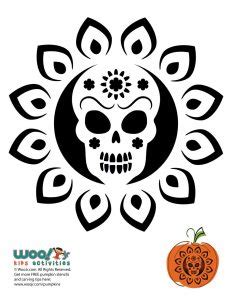 day of the dead pumpkin carving stencils woo jr kids