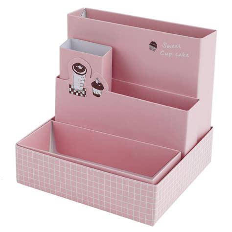 Paper Organizer For Desk Diy Paper Board Storage Box Desk Decor Stationery Cosmetic Makeup Organizer Jl Ebay