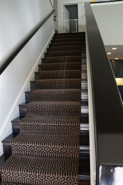black patterned runner interior contemporary patterned carpet stair runner