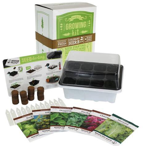 indoor culinary herb garden starter basic kit