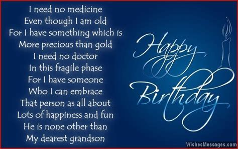Happy Birthday Grandson Quotes Birthday Poems For Grandson Recipes To Cook Pinterest