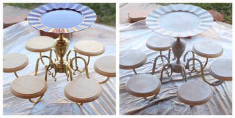 Diy Cake Stand Gorgeous Centerpiece Made From An Old Diy Chandelier Cake Stand