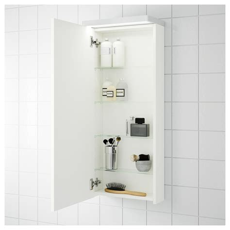 High Gloss Bathroom Storage Godmorgon Wall Cabinet With 1 Door High Gloss White 40x14x96 Cm Ikea