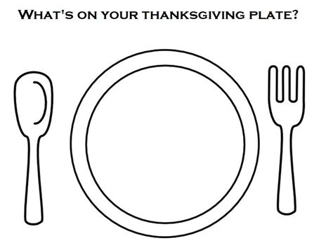 empty dinner plate page coloring pages