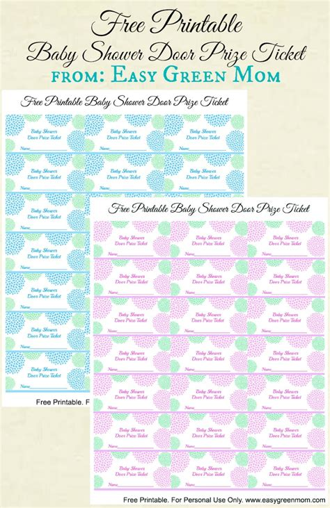 Baby Shower Door Prize Free Printable Baby Shower Door Prize Tickets For Boy Or Ideas Shower Doors And