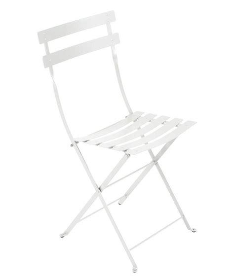 white folding bistro chairs bistro folding chair metal cotton white by fermob