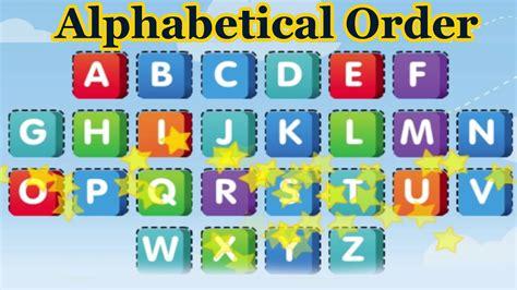 Letter In Order put the alphabet in alphabetical order alphabet songs 3d