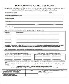 donation tax receipt template 39 free receipt forms