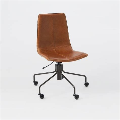 leather office desk chair slope leather office chair elm australia