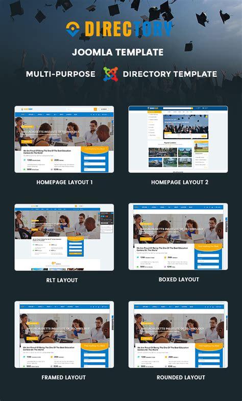 directory customizable directory joomla template