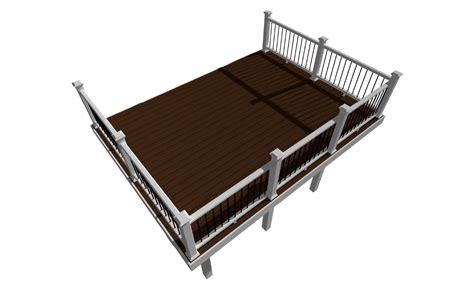 Design Plans rectangle deck designs amp plans trex