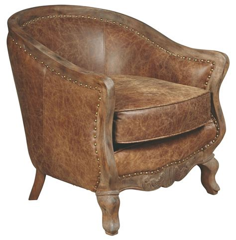 Brown Leather Accent Chair Sloane Brown Leather Accent Chair P006206 Pulaski