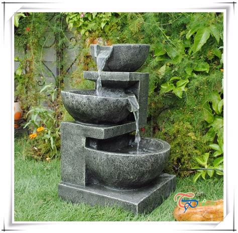 decorative resin outdoor water fountains and artificial