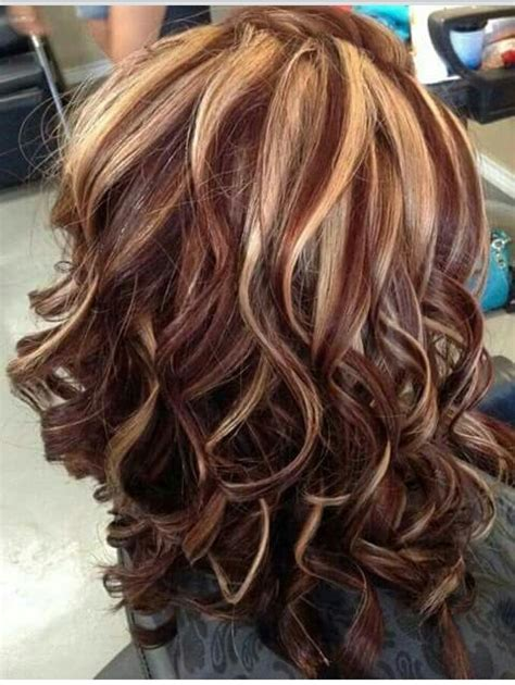 pictures of blonde highlights and lowlights curly love the colors the curls hair pinterest hair