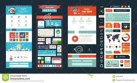 best ux design websites website page template web design stock vector image