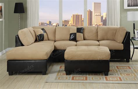 Livingroom Sectionals Sectional Sofa Furniture Microfiber Sectional 3 Pc