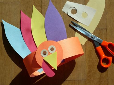 Handmade Turkey Crafts - paper crafts for gobble gobble turkey hat for