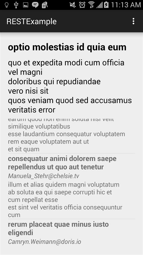 tutorial android rest android rest exle by kmangutov