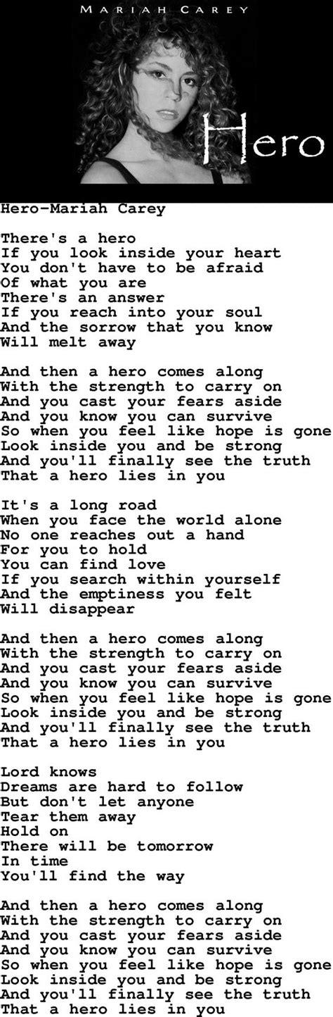testo carey carey lyrics strength quote words to