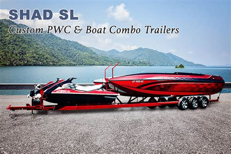 custom pwc boat combo trailers shadow trailers