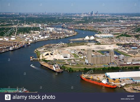 boat show houston area aerial view of the port of houston along the houston ship