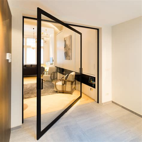 Pivot Glass Door Modern Glass Pivoting Doors Made To Measure With Innovative Hinges Anyway Doors