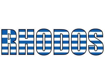 Folien Aufkleber Schrift by Rhodos Schriftzug Griechenland Aufkleber Plot4u