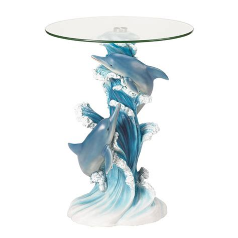 Zingz amp thingz wave dancers dolphin end table amp reviews wayfair