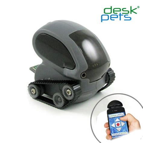 Desk Pet App by Deskpets Tankbot App Controlled Micro Robotic Tank Grey